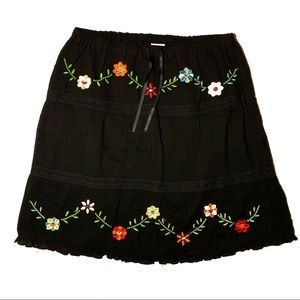 Old Navy Flower Embroidered Skirt